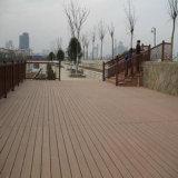 Sólido No Pintura WPC terrazas al aire libre para jardín / patio de piso