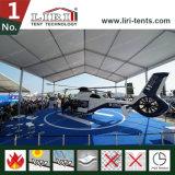 Hangar provisório do famoso do abrigo do avião do helicóptero