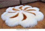 Tapis Shaggy de maison de fourrure de basane de mode dans la forme de fleur
