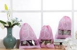 Viagem doméstica Óptica à prova de poeira Organizador Sacos de cordão não tecidos com janela transparente