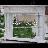 Marmorsteingranit-weiße Carrara-Kamin-Einfassung Mfp-430