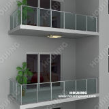 Balcony를 위한 Tempered Glass Railing/Balustrade