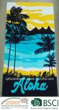 Essuie-main 100% de plage estampé réactif de velours de coton de modèle de lunettes de soleil de BCH Twl