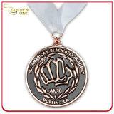 Médaille plaquée par bronze antique de relief faite sur commande