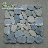 Mosaico del frammento di colore del limone dell'ardesia delle mattonelle della decorazione della parete