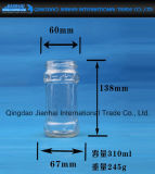 Frasco de vidro tradicional com a tampa do metal para o atolamento