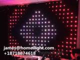 La miscela completa di RGB colora indicatore luminoso a prova di fuoco della tenda del velluto LED da 3 * 4 m. il video per la visione di esposizione della fase del DJ