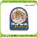 Подгонянные магниты холодильника PVC подарков промотирования как сувенир Иордан (RC-JN)