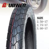 Neumáticos posteriores de la motocicleta 2.50-17 2.75X17 3.00-17