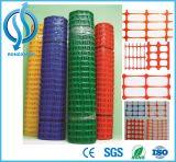 Frontière de sécurité en plastique orange de barrière d'avertissement de sûreté