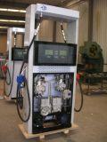 Deux distributeur d'essence de station de pétrole de pompe du gicleur deux avec la DEL