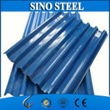 Il colore ha ricoperto lo strato d'acciaio galvanizzato del tetto preverniciato mattonelle d'acciaio