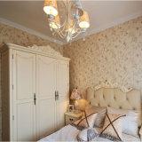 Guardarropa de lujo europeo del dormitorio de madera sólida del estilo