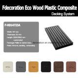 Étage en plastique en bois de Decking du composé WPC de bande de phosphore