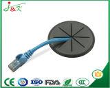 Pasamuros flexible de goma blanco para los alambres y los cables del paso