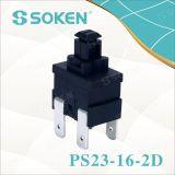 Переключатель сброса PS23-16-2D 2 Поляк кнопка Soken прямоугольный