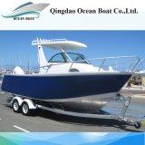21FT Aluminiumfischerei-Fahrzeug-Mittelkabine-Fischerboote mit Hardtop