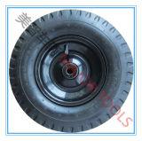 Vier Nut-Muster-pneumatisches Gummischlußteil-Rad 3.50-6