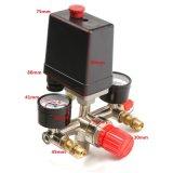 el regulador multíple práctico de la válvula de control del interruptor de presión del compresor de aire de 90-120psi DIY calibra 240V 20A