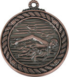 5cm Swimming Competition Metal Medallion