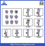Válvula de ângulo sanitária chapeada cromo do encanamento de bronze para o toalete (YD-5011)