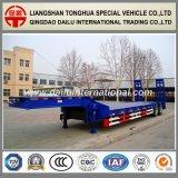 Zware Lage Flatbed van het Vervoer van de Apparatuur/Semi Aanhangwagen Lowbed