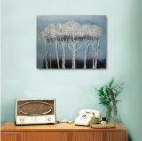 Arbres décoratifs sur la peinture à l'huile