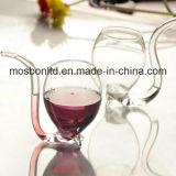 Tubo de vidro do projeto do vampiro da vodca desobstruída para beber de vinho - presente da decoração do copo do partido