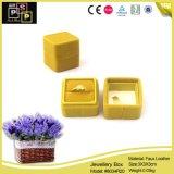熱い販売のビロードの宝石類のリングのギフトの包装ボックス(8034)