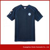 Kundenspezifischer kurzer Hülsen-Sport-Shirt-Hersteller (R70)