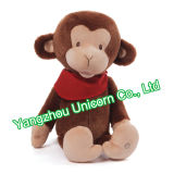Docteur mou Monkey Plush Toy de peluche de la CE
