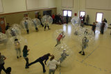 Esfera abundante inflável. Esfera de Giga. Esfera de Zorb