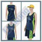 Uniformes de robes de combinaison de Netball de sublimation de femmes