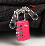 Zink Alloy 4-Dial Number Travel Bag Lock&Bag Padl