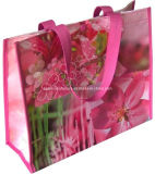 Non promozionale Woven Bag con i pp Lamination Shopping Bag