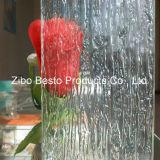 Panel decorativo de la puerta de la ducha / partición modelado / figurado / rodado / grabado en relieve del vidrio de la decoración del edificio