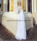 Langes Sleeves Bridal Gowns Lace A - Zeile Split Wedding Dresses Z2041