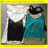 Vestiti utilizzati della signora coreana Fashion Chilffon Dress di stile per il servizio africano (FCD-002)