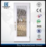 Porte de fibre de verre de Dollhouse insérée par glace décorative à extrémité élevé d'art de main