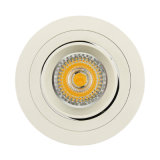 Proyector ahuecado inclinación redonda del aluminio GU10 MR16 LED del torno (LT2308B)
