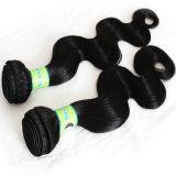 100%の人間の毛髪7Aカンボジアボディ波の自然なヘアケア製品