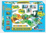 Serie del tren de los juguetes de la pista del juego de los bloques