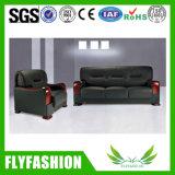 Sofá de couro confortável e durável do plutônio (OF-05)
