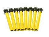 38inch体操の小型折られたトランポリンの黄色の適性のトランポリン、子供のトランポリン