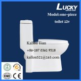 Пол - установленный туалет ванной комнаты Single-Piece в санитарных изделиях