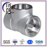 Te de alta presión de acero de la autógena del socket de Stainleess