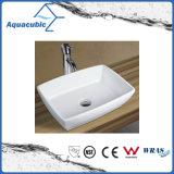 Fregadero que se lava de la cabina del lavabo de cerámica del arte y de la mano superior de la vanidad (ACB8244)