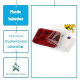 Modanatura di plastica di plastica personalizzato dell'iniezione della casella di immagazzinamento in il contenitore degli alimenti a rapida preparazione degli articoli per la tavola a gettare