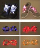 Шнурок ботинка празднества СИД торжества проблескивая в темной ноче