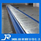 Ленточный транспортер плоской плиты нержавеющей стали с дефлектором